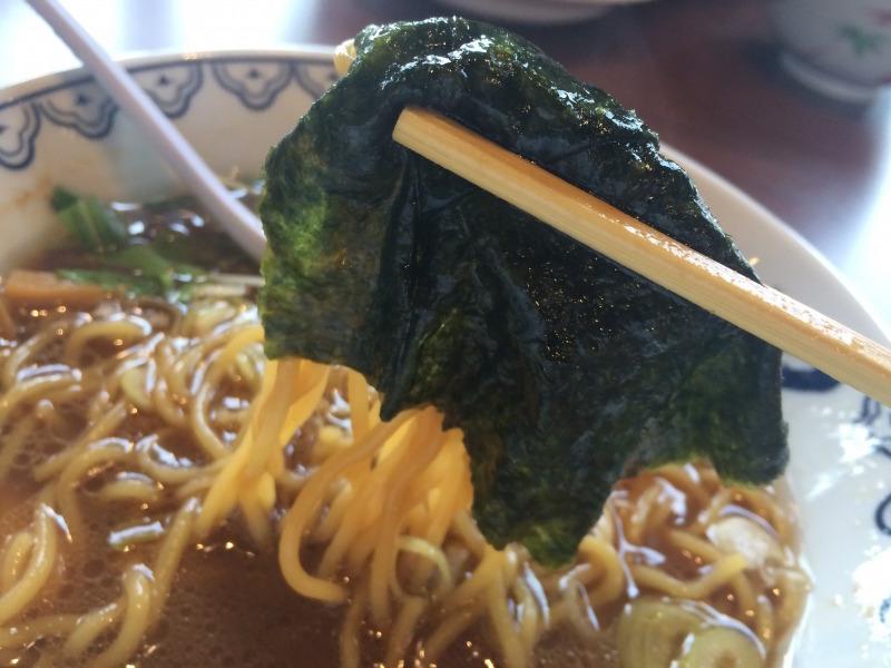 海苔と魚介スープは相性抜群