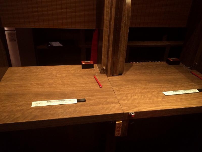 2名用のカウンター席