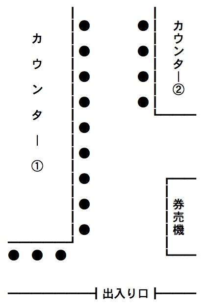 店内の座席配置図