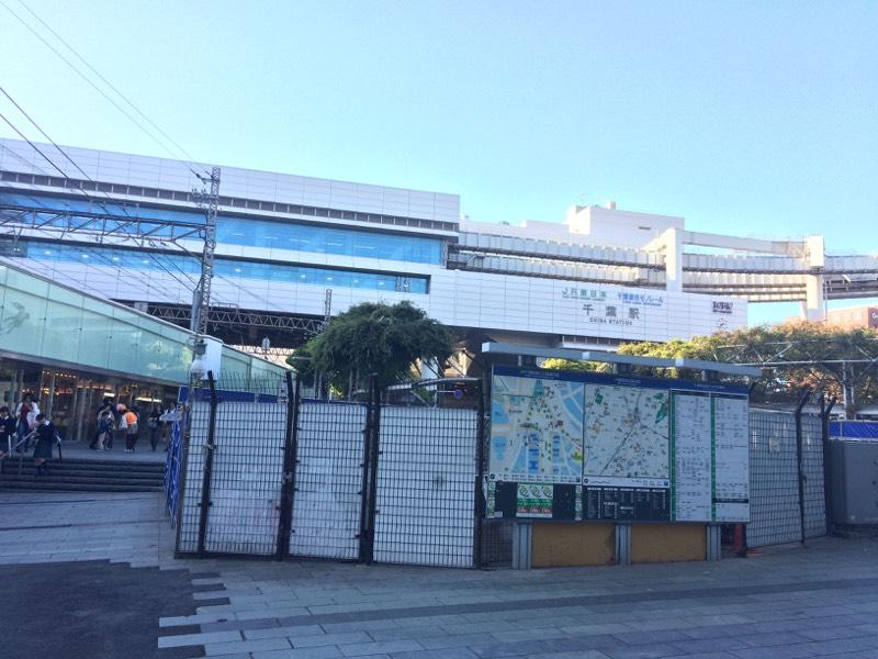 クリスタルドームが撤去された千葉駅