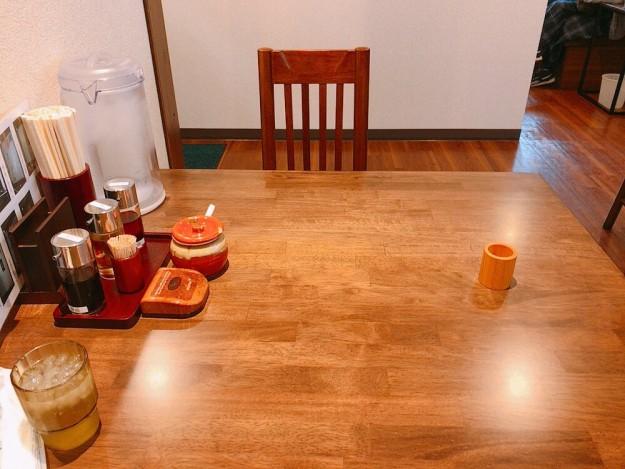 2名がけテーブルへ