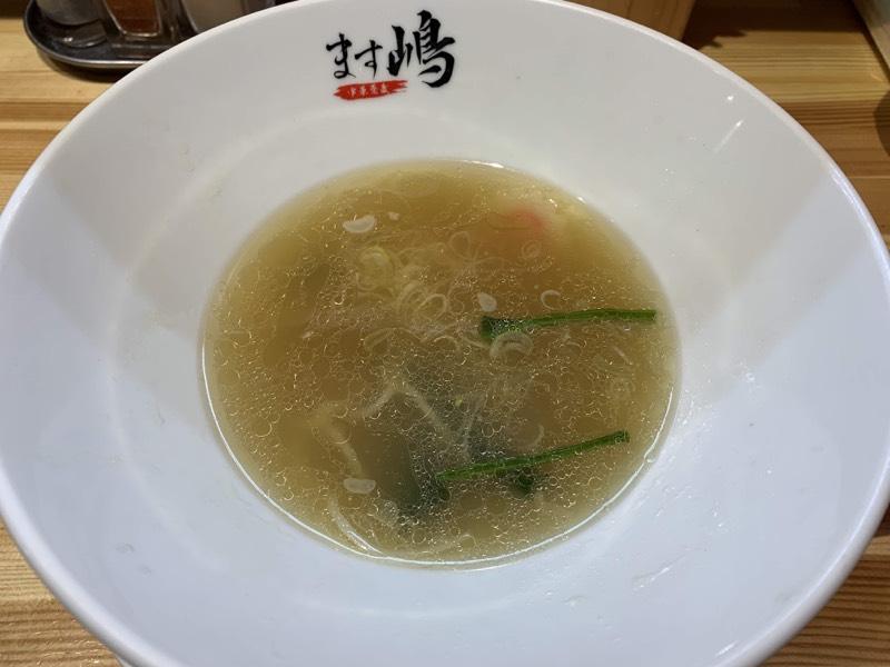 ばけ用に残しておいたスープの出番ですよ