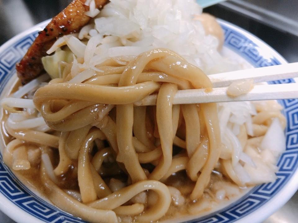 小倉雷神屋のワシワシ麺