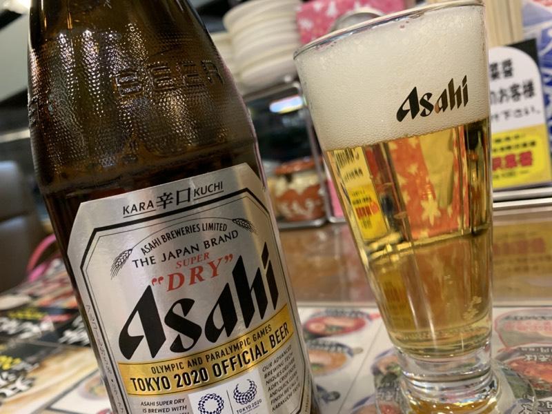 瓶ビールは辛口なやつ