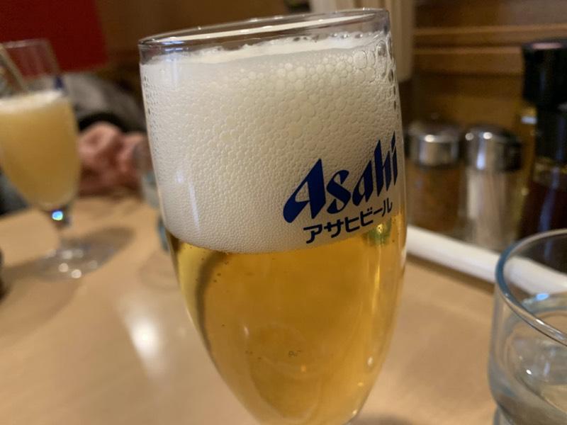 アサヒのスーパーのドライのビール