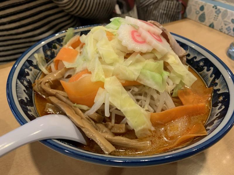 連れのオーダー品:味噌野菜ラーメン